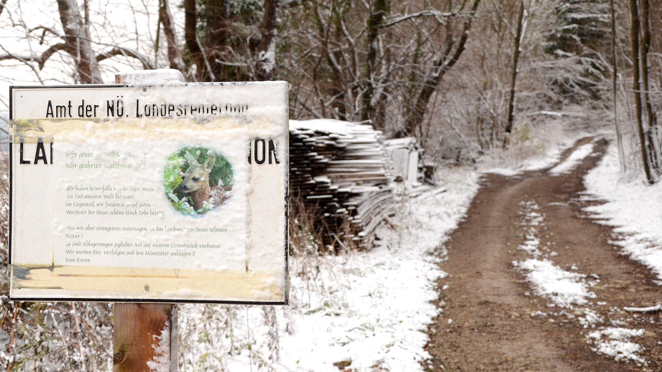 Grundstück betreten verbieten