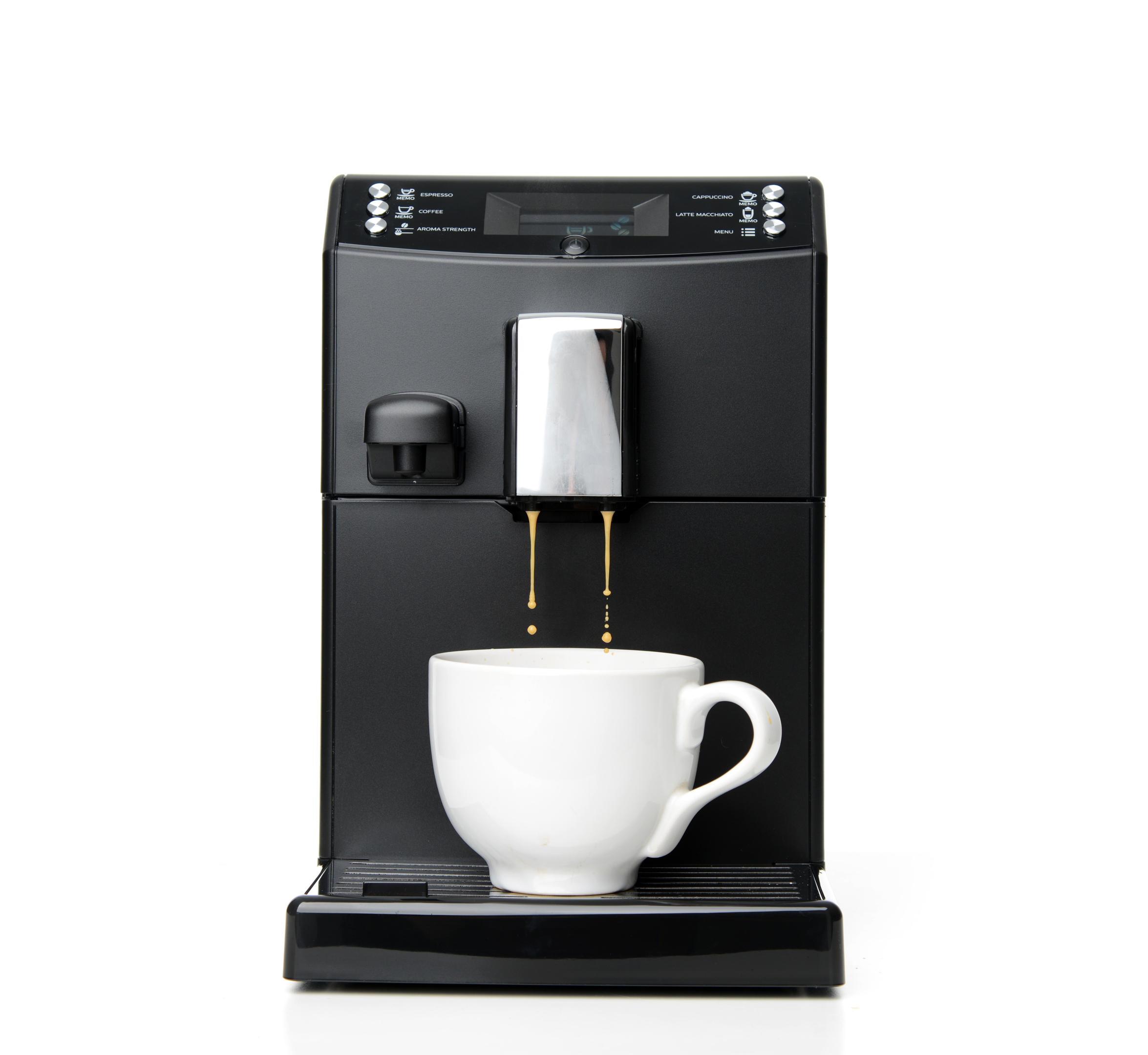 Kaffeevollautomat in silber