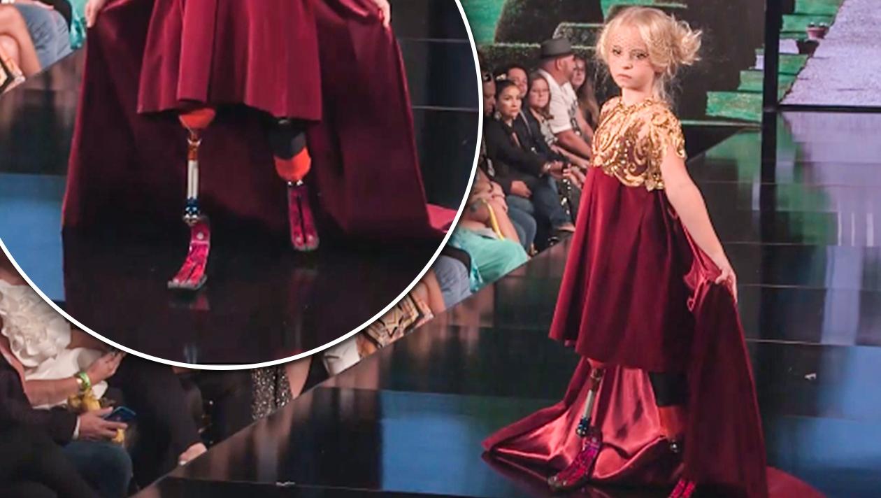 Beinamputiertes Model läuft auf der Fashion Week