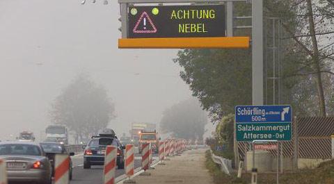ARBÖ warnt vor Frühnebel auf der A1