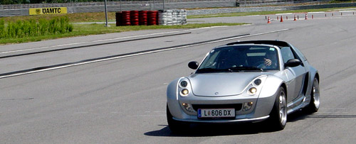 Der Smart Roadster Brabus am Wachauring