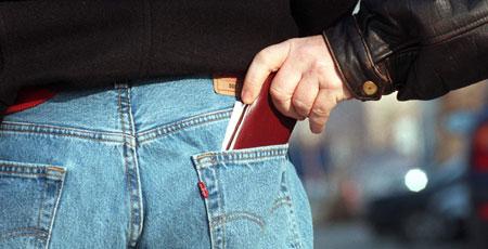 Warnung vor Taschendieben per SMS-Nachricht (Bild: Martin Jöchl)