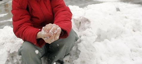 Polizeieinsatz wegen Massen-Schneeballschlacht (Bild: Chris Koller)