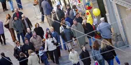 Händler sind mit Einkaufsfeiertag sehr zufrieden (Bild: Erich Petschenig)