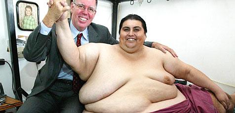 Dickster Mann der Welt nahm schon 230 Kilo ab