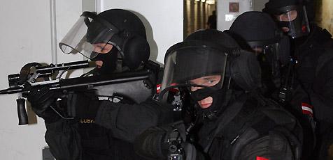 Waffenattrappe l�st Cobra-Einsatz aus (Bild: Andi Schiel)