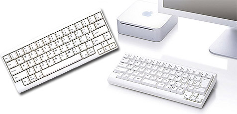 Mini-Tastatur für Apples Mac Mini