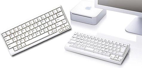 Mini-Tastatur f�r Apples Mac Mini