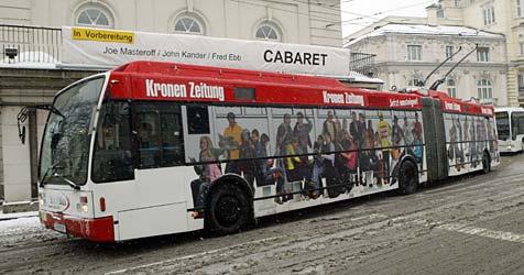Immer mehr Autofahrer steigen auf O-Busse um (Bild: Joachim Maislinger)