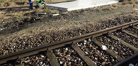 Diebe stehlen 4 Tonnen  schwere Eisenbahnbrücke