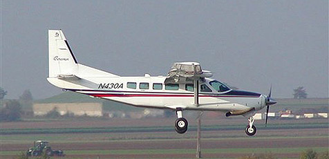 Australische Propeller-Maschine hob ohne Pilot ab