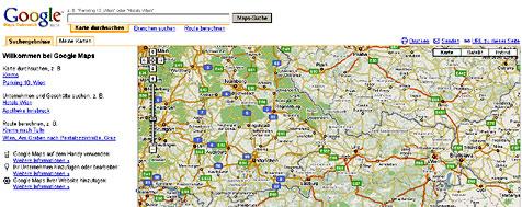 Google startet �sterreich-Maps