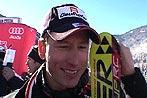 Hannes Reichelt freut sich über seinen Sieg