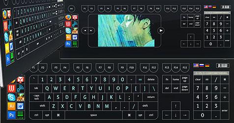 Touchscreen-Tastatur als Studie von Art.Lebedev