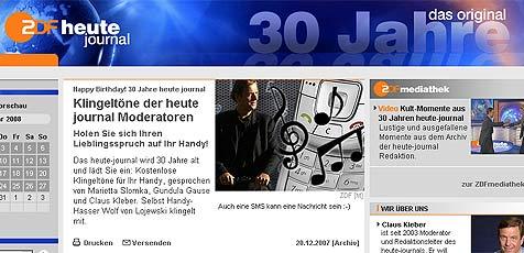 Gratis-Klingeltöne der ZDF-Nachrichtensprecher