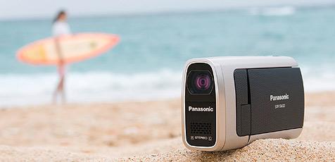 Wasserdichter Camcorder von Panasonic (Bild: Panasonic)