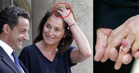 Bruni trägt gleichen Dior-Ring wie Cecilia Sarkozy