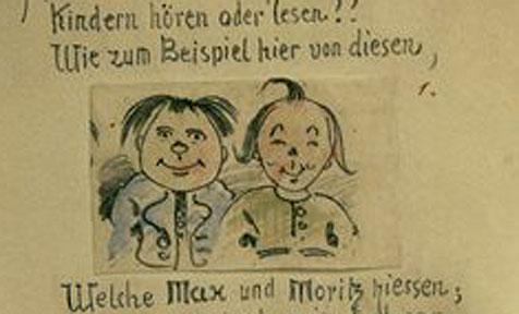"""Tiroler Lausbuben als Vorlage für """"Max und Moritz"""""""