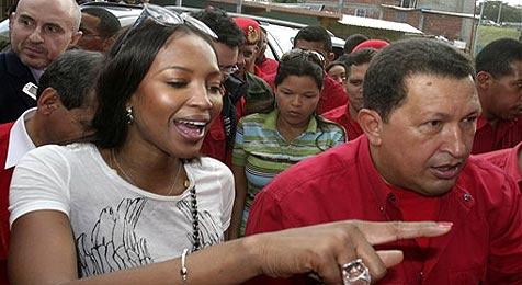Hugo Chavez erobert Naomi Campbells Herz