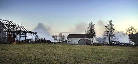 In Altheim zündete Feuerteufel zwei Höfe an (Bild: Manfred Fesl)