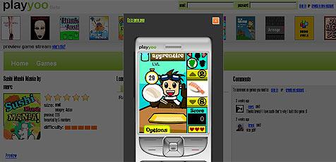Website bringt kostenlose Spiele auf das Handy (Bild: Playyoo)