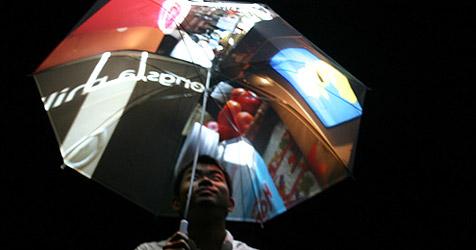 Tüftler entwickeln Hightech-Regenschirm (Bild: Pileus.net)