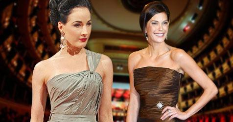 Dita von Teese trug die schönste Opernballrobe