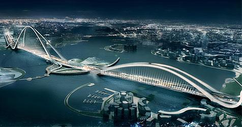 Dubai bekommt die größte Bogenbrücke der Welt (Bild: FXFOWLE INTERNATIONAL, LLC)
