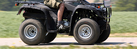 Quad-Fahrer auf steiler Forststraße verunglückt (Bild: Peter Tomschi)