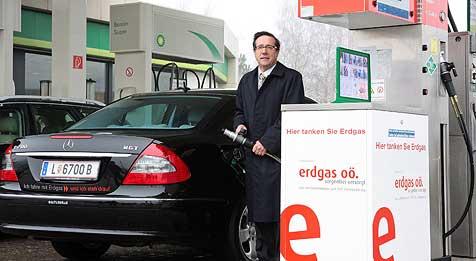 Vollgas mit Erdgas im Autotank (Bild: Ferngas OÖ)