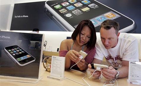Apple-Stores als Flirtzone