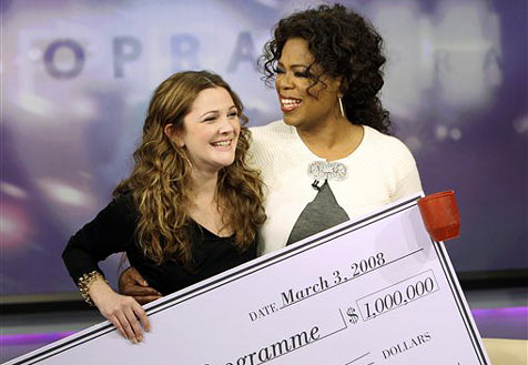Drew Barrymore spendet eine Million Dollar