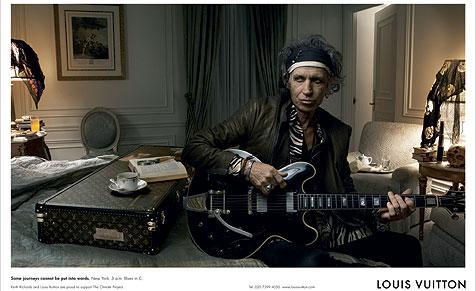Keith Richards macht Werbung für Louis Vuitton (Bild: Louis Vuitton)