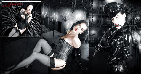 Dita von Teese posiert für Deathmetal-Band (Bild: Napalm Records)
