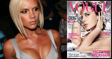 """Victoria Beckham auf dem Titel der """"Vogue"""""""