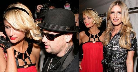 Paris mit neuem Lover bei Nickys Fashionshow