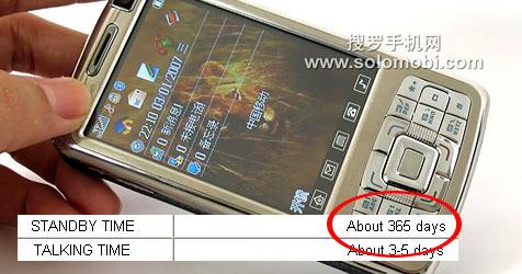 Smartphone aus China mit einem Jahr Standby