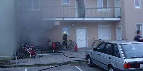 Bewohner entkamen Giftqualm (Bild: FF Enns)