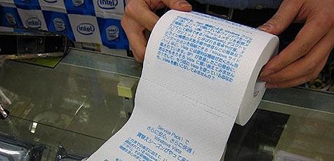 Vista-Toilettenpapier als Verkaufsschlager