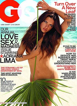 Adriana Lima zeigt im neuen GQ alles