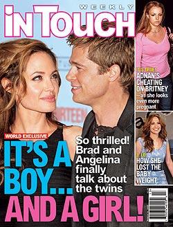 Angelina erwartet einen Buben und ein Mädchen!