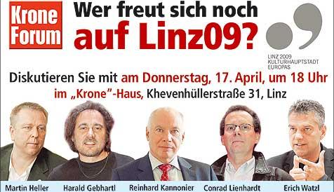 Diskussion über Linz09 (Bild: Michael Chvatal)