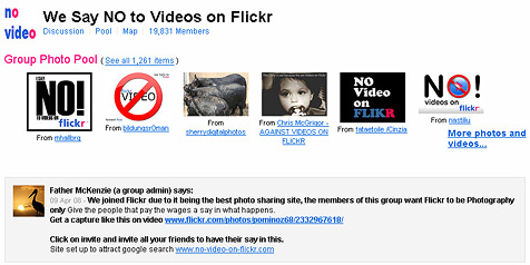 Flickr-Fans protestieren gegen Video-Funktion