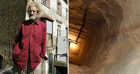 Londoner baute Tunnel unter seinem Haus