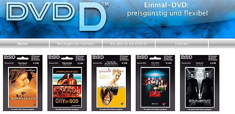 Einmal-DVD zerstört sich nach 48 Stunden selbst (Bild: Einmal-DVD.com)