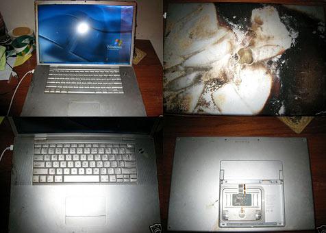 Dreckigstes MacBook Pro der Welt  auf eBay