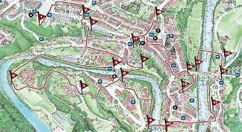 Schweizer Stadt zum Golfplatz umfunktioniert (Bild: AFP)