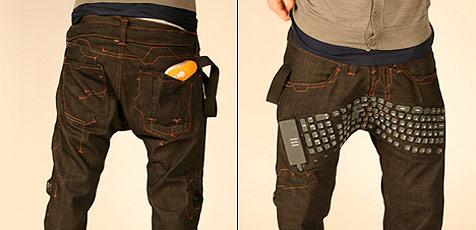 Hose der Zukunft mit eingebauter Tastatur (Bild: Erik De Nijs)