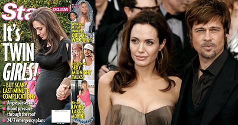 Angelina Jolie bekommt Zwillingsmädchen (Bild: Cover Star, EPA)
