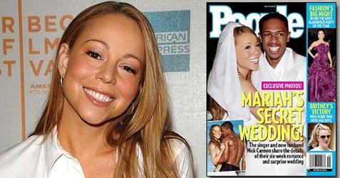 Mariah Carey bestätigt ihre heimliche Hochzeit (Bild: AP Photo, Cover People)